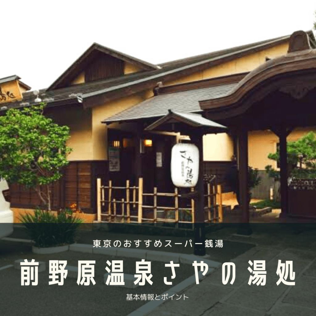 東京板橋のおすすめ温泉・銭湯・サウナ「前野原温泉 さやの湯処」【都内トップクラスの安さ!】